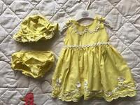 M&S Spring/Summer Yellow Dress, 3-6 months