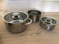 3-piece induction cookware - Berndes Cookware - Spare set - New Condition!