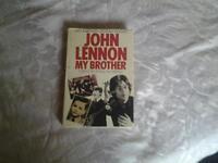 """Hardback book, JOHN LENNON """" MY BROTHER""""."""
