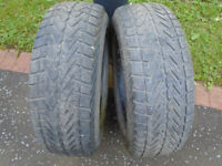 2 PART WORN TYRES with EXCELLENT TREAD SIZE 235/65 R17, £35 EACH or BOTH for £65