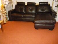Leather sofa with storage space was £2600 now £550 only