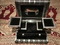 antique style jewellery box silver