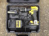 DEWALT XR 18v DRILL WITH BATTERIES AND CHARGER