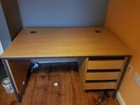 Office Desk with 3 lockable drawers,