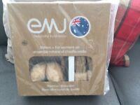 Genuine Emu sheepskin mittens and earmuffs