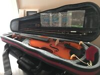 1/2 Size Antiqued Westbury Violin with Case and Accessories
