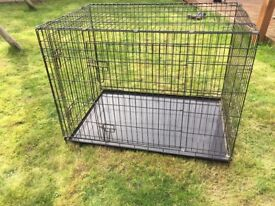 Dog Cage X-Large With Metal Tray Animal Cage Great Condition