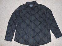 Debenhams Shirt 11-12 years black grey blue stripes