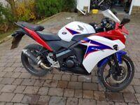 Honda CBR 125 2011 5000 MILES LOW MILEAGE MOT 2 KEYS