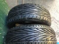 2 Toyo Proxes T1R performance tyres new never been put on rims