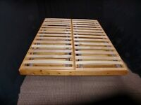 DOUBLE LOW WOODEN BED FRAME WITH 4 UNDERBED STORAGE DRAWERS