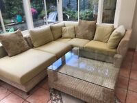 MUST SELL! Holloways Modular Chiswick Conservatory Suite and Glass Topped Coffee table
