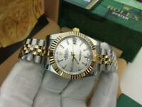 LADIES Rolex Datejust Silver Dial two tone