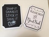 Wedding Signs Guestbook and Chalkboard