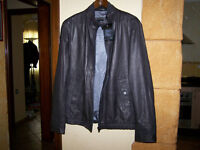 Leather jacket 'Nilius' in lambskin (regular fit) by BOSS