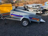 BRAND NEW MODEL 7X4 FLAT TIPPING TRAILER 750KG