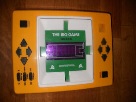 "Vintage football video game: ""The Big Game: Soccer by Grandstand"" including universal adaptor"
