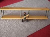 Wooden aeroplane shelves for children's bedroom / nursery.