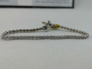 #335 14K White Gold Illusion Set Diamond Tennis Bracelet. 7 in length. Appraised at $4550, selling for only $1495!
