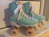 Rio Roller Script Quad Skates UK Size 4 + Bag for sale  Partick, Glasgow