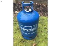 15 kg calor gas bottle with approximately 1/2 bottle of gas left great saving on surcharge £25