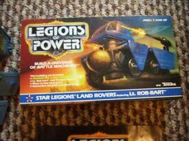 1986 Tonka Toys Legions of Power Star Legions Land Rovers boxed