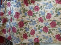 Beautiful Rose Patterned Lined Curtains