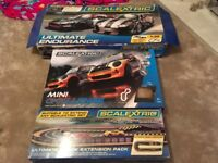 Scalextric sets x 2 plus extension track