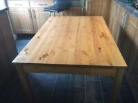 Solid wood ikea table