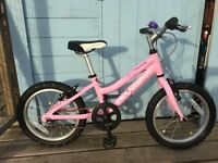 Girls Pink Ridgeback Melody Bike with Stabilisers and Helmet