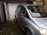 2008 58 reg Vauxhall Zafira 1.9 cdti 120 6 speed 7 seater Life model
