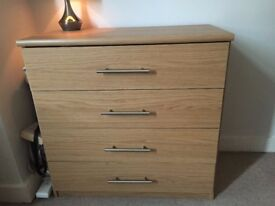 Chest of Drawers available immediately. Spacious and good as new. Only £40.
