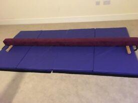 Excellent condition 8ft gymnastics beam