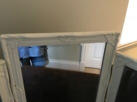 Cream dressing table mirror
