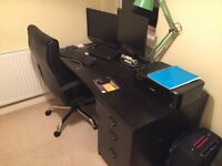 Office desk, chair and drawers