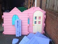 Girl's outdoor playhouse