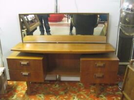 Vintage G Plan Teak Floating Desk Dressing Table Sideboard Mid Century Retro