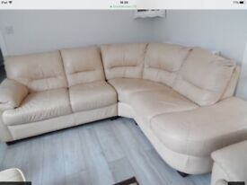 Leather corner sofas vgc could deliver
