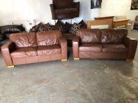 Italian leather sofa set very nice & comfy