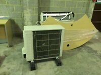 Wood Reception Desk - 3x office Doors - Fire Safe - Round table/Desk - Air conditioning Unit