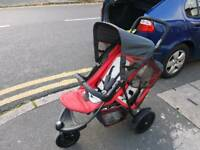 Hauck Tandem Double Pushchair with Car Seat