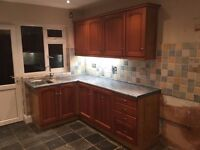 COMPLETE KITCHEN UNITS WITH WORKTOPS, INTEGRATED DISHWASHER!! QUICK SALE!!