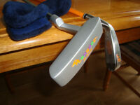 LONG DOG Junior Putter & 5/6 Iron - Golf 'taster' kit For Kids. Junior Clubs.