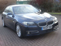BMW 5 SERIES 2.0 520D LUXURY 4d AUTO 188 BHP SAT NAV + LEATHER + BLUETOOTH + 1 OWNER FROM NEW++