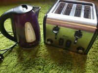 *Very good condition: Swan Deep purple toaster and kettle*