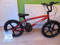 Zinc Backbone 20 Inch BMX Bike. NEW, BARGAIN,ARGOS PRICE £199.99, SALE £89.99 OUR PRICE £42.00 RED