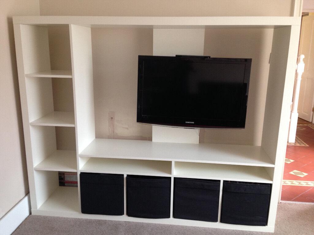 Ikea Tv Storage Unit Lland In White 183 X 147cm With Bo