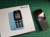 NEW Nokia 105 in black - with box - on EE