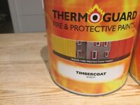 Rawlings fire paint Timbercoat 20sq m Unopened and purchased in October 2017