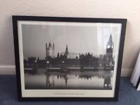Black and White Photo of Big Ben and the Houses of Parliament